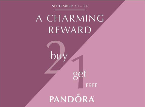 pandora charming reward 3 for 2 sale free