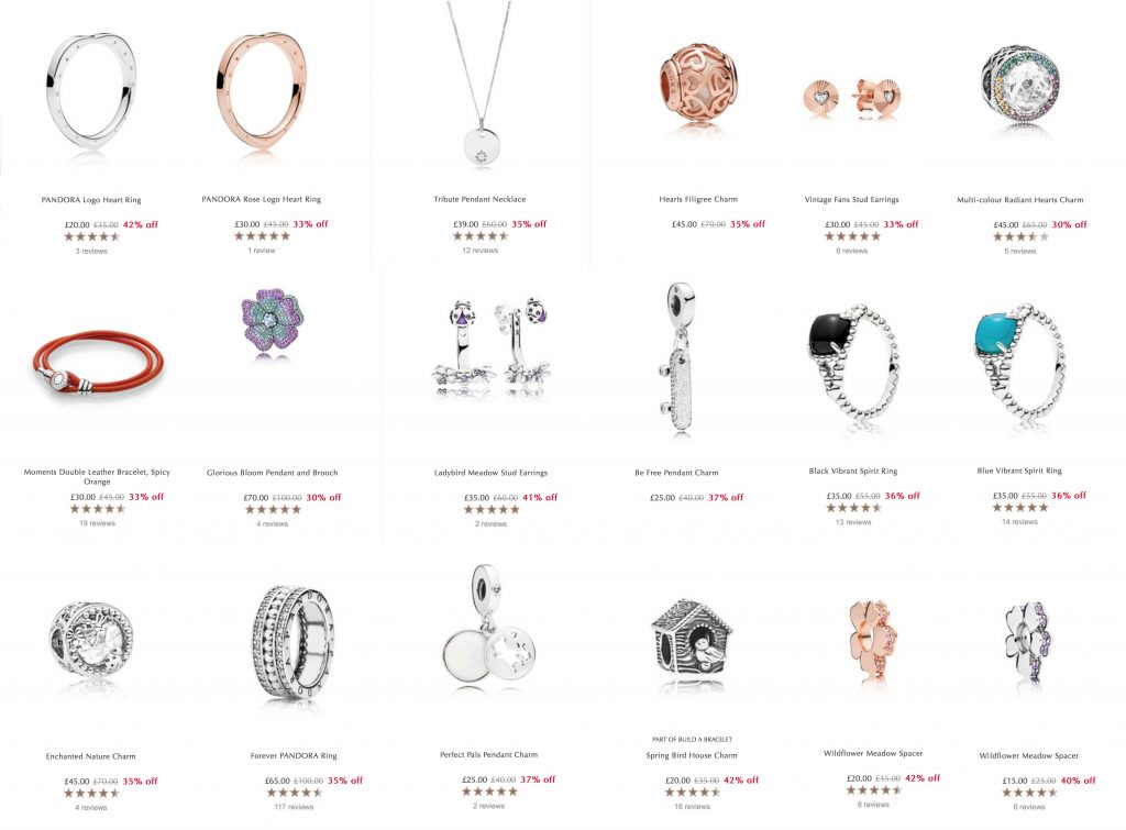 pandora spring summer mothers day 2018 sale