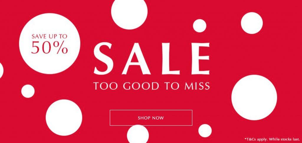 pandora sale 50% off half price