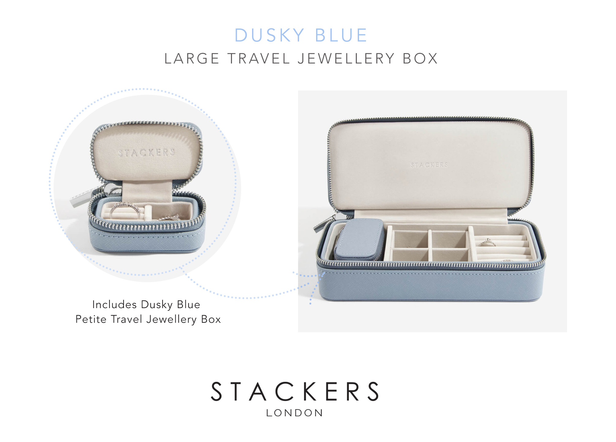 Stackers Large Travel Jewellery Box The Art Of Pandora More Than