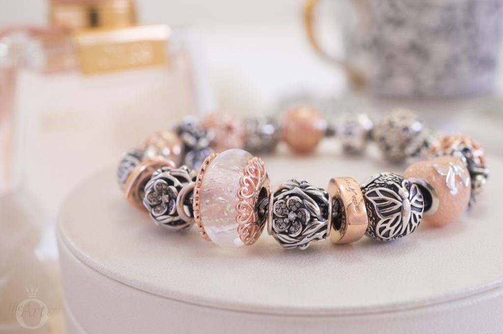787576 PANDORA ROSE Iridescent White Glass Murano Charm winter autumn 2018 new collection review becharming pandora us official retailer blog blogger gift