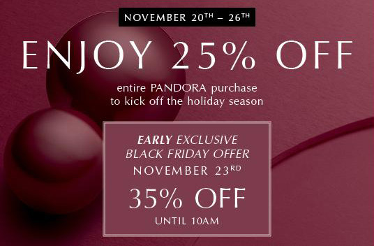 pandora black friday sale 2019