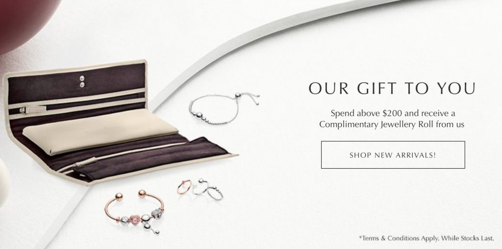SINGAPORE: FREE PANDORA Jewellery Roll