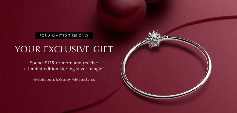 pandora uk free gift bangle offer sale black friday cyber monday