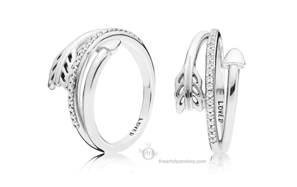 PANDORA Sparkling Arrow Ring 197830CZ Valentines Day 2019