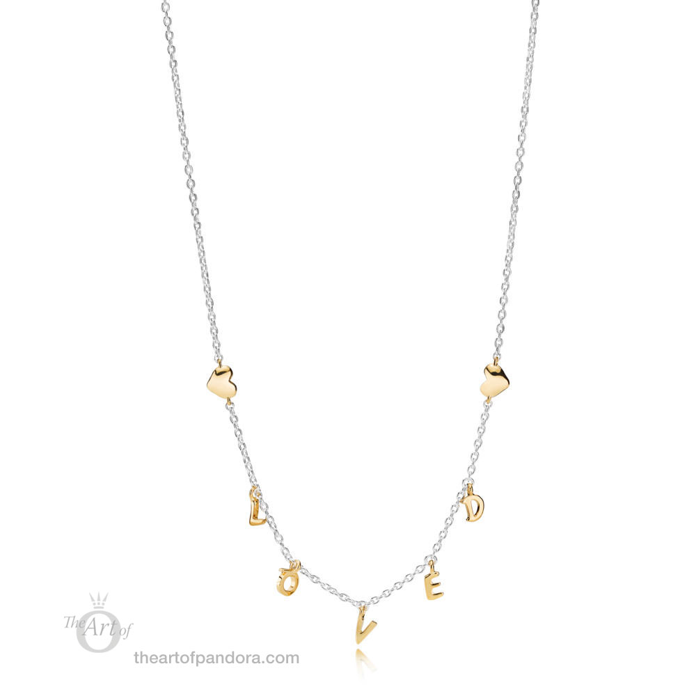 PANDORA Loved Script Necklace 367818 Valentines Day 2019