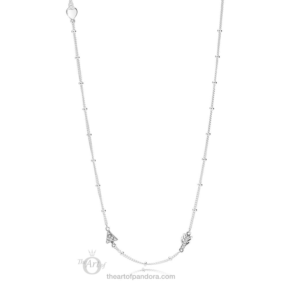 PANDORA Sparkling Arrow Necklace 397795CZ Valentines Day 2019