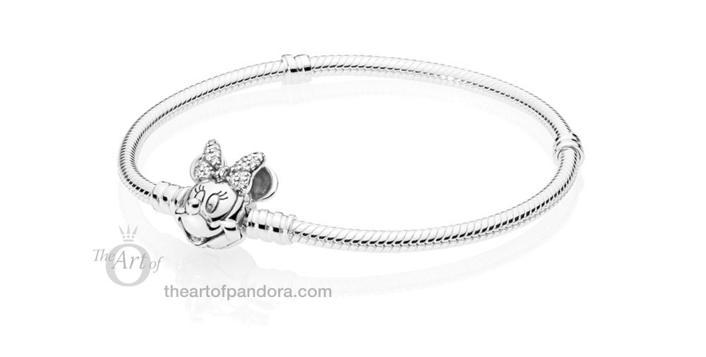 PANDORA Disney Shimmering Minnie Portrait Moments Bracelet 597770CZ Valentines Day 2019