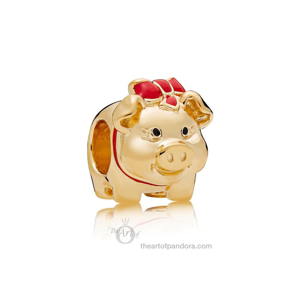 PANDORA Shine Piggy Bank 767815ENMX Chinese New Year 2019 CNY Valentines Day 2019