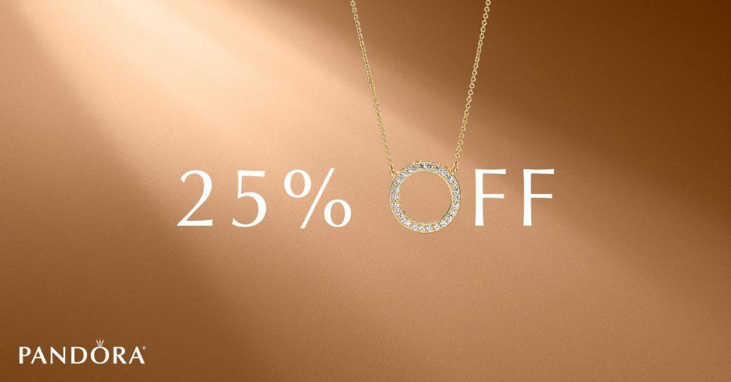 pandora 25% off sale discount