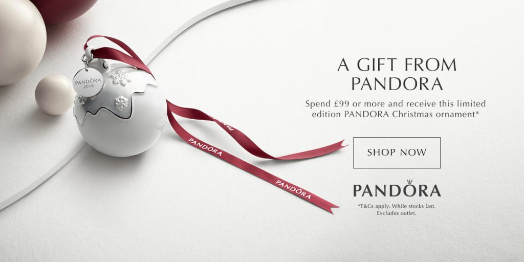 pandora uk 2018 holiday ornament