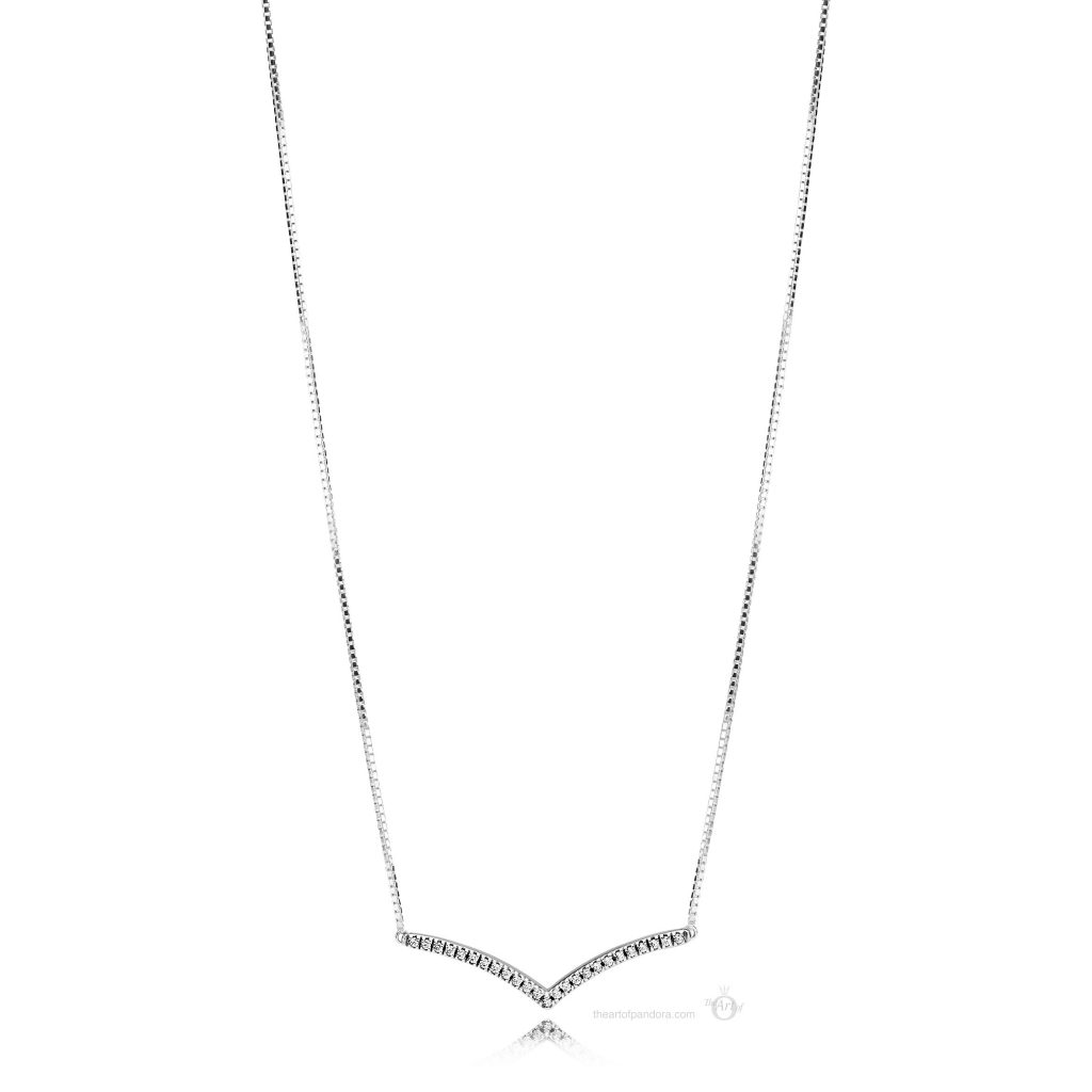 397802CZ PANDORA Shimmering Wish Necklace PANDORA Pre Spring 2019 collection wish