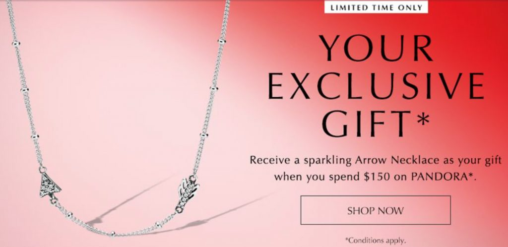 a9918423f From 31st January – 14th February receive a FREE Sparkling Arrow Necklace  with a $150 AUD / $180 NZD spend!