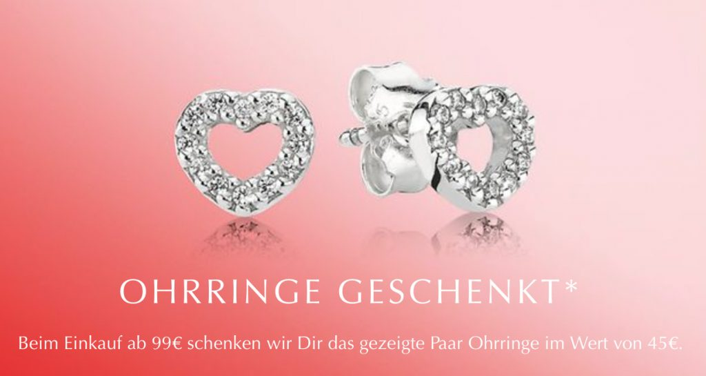 62f23b82c From 31st January – 14th February receive a FREE pair of Heart Stud Earrings  with a €99 / 999NOK / DKK799 spend!