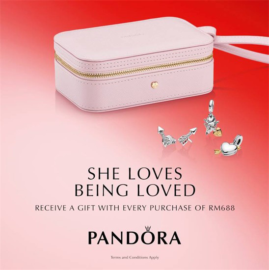 5a9adc982 From Monday 28th January until Thursday 14th February 2019, receive a FREE  PANDORA jewellery box with a RM688 purchase on normal priced items only.