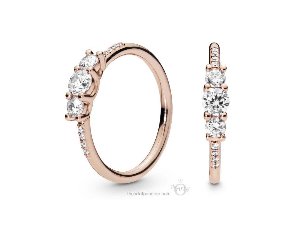 186242CZ PANDORA Rose Sparkling Elegance Ring Spring 2019