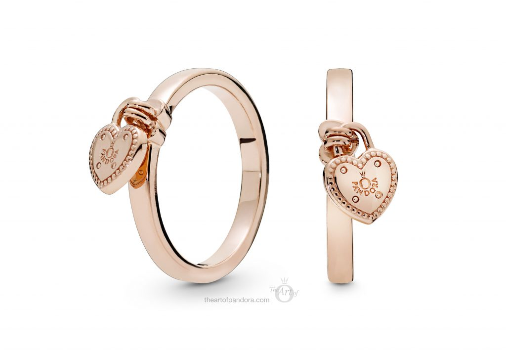 186571 PANDORA Rose Love Lock Ring Spring 2019