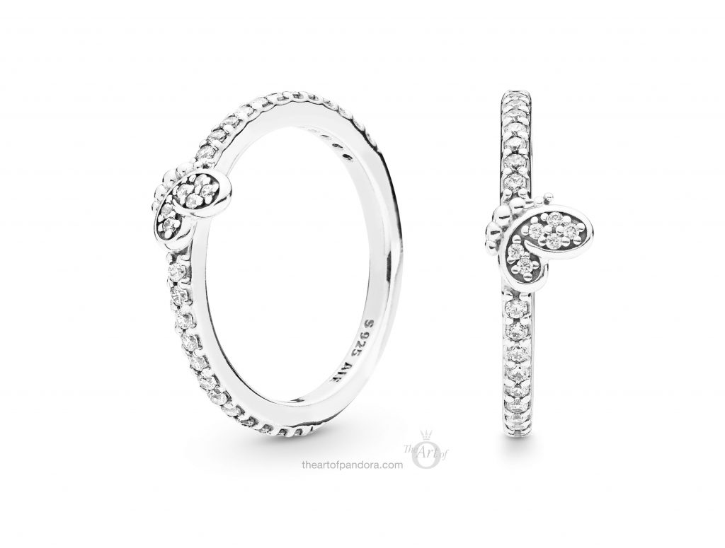 197948CZ PANDORA Bedazzling Butterfly Ring Spring 2019