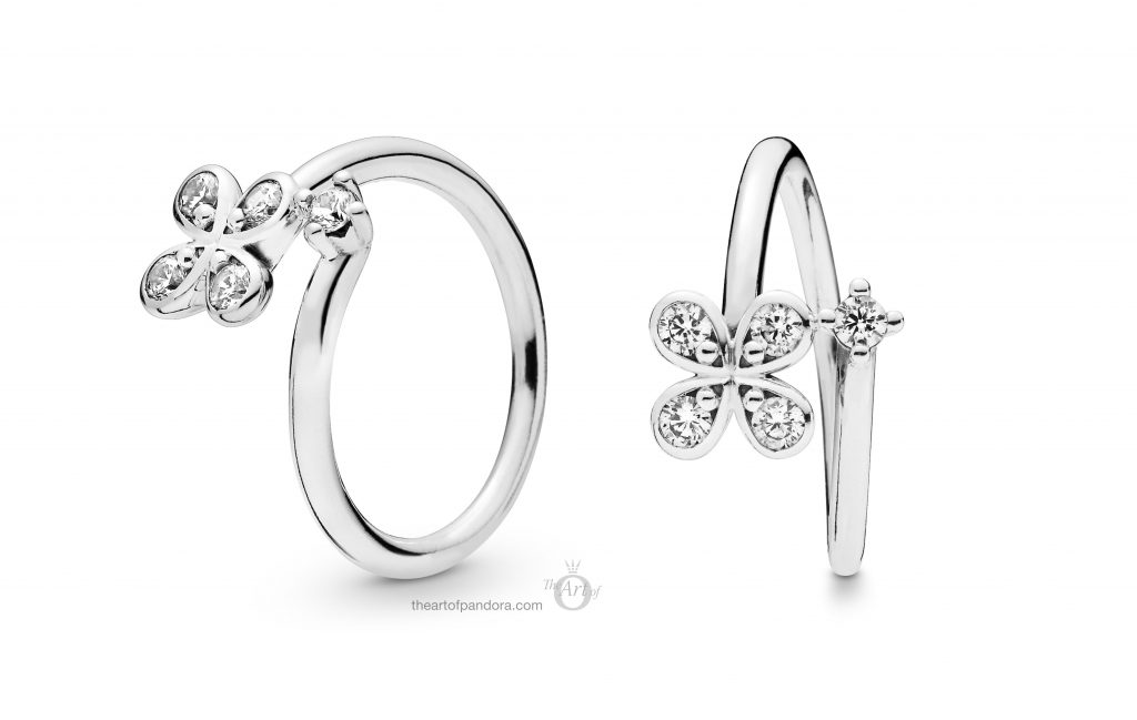 197988CZ PANDORA Four Petal Flower Ring Spring 2019