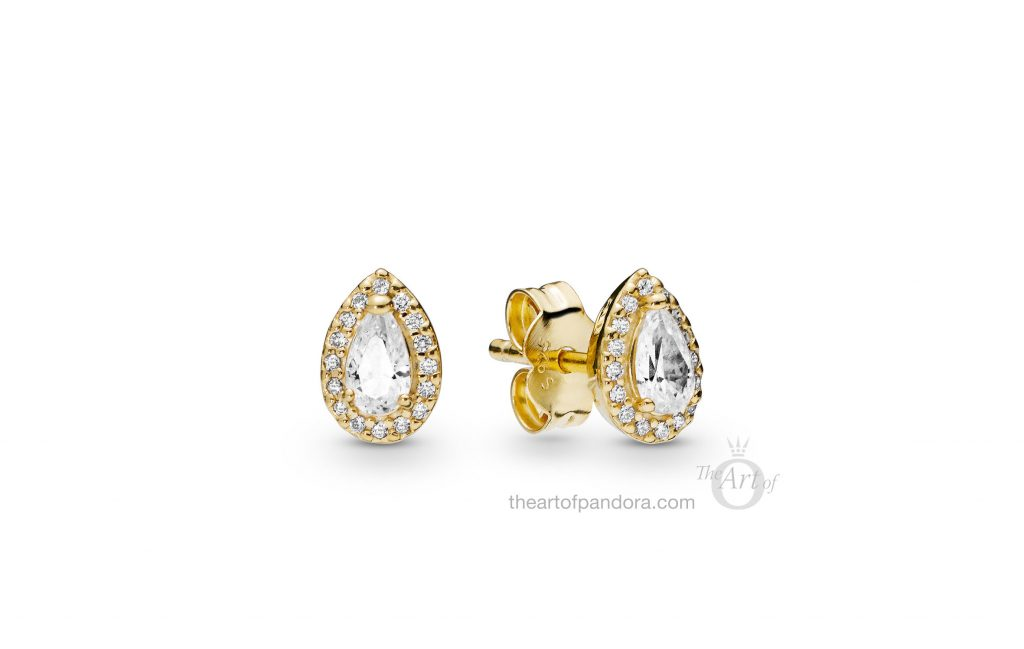 266252CZ PANDORA Shine Radiant Teardrops Earrings Spring 2019