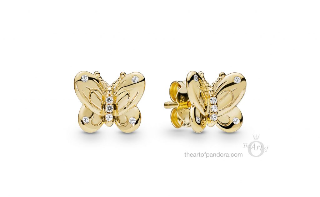 267921CZ PANDORA Shine Decorative Butterflies Earrings Spring 2019
