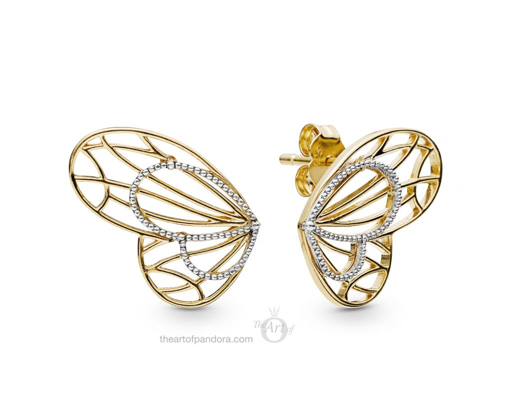 267955 PANDORA Shine Openwork Butterflies Earrings Spring 2019