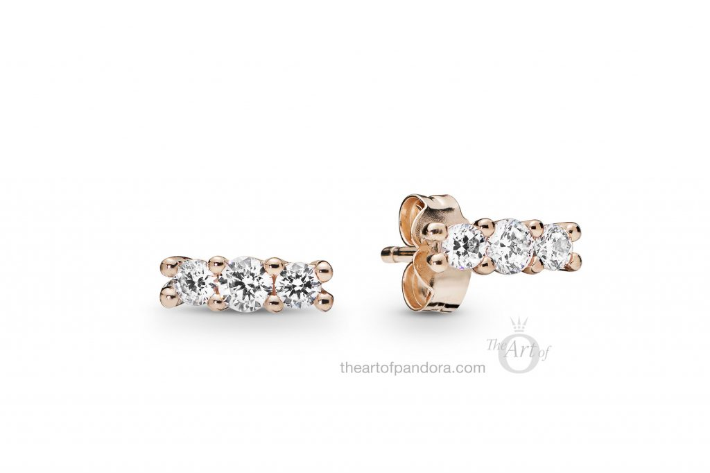 280725CZ PANDORA Rose Sparkling Elegance Earrings Spring 2019