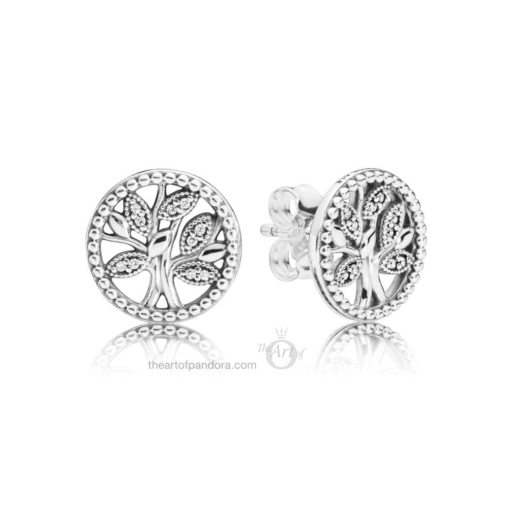 PANDORA TREES OF LIFE STUD EARRINGS (297843CZ) MOTHERS DAY 2019