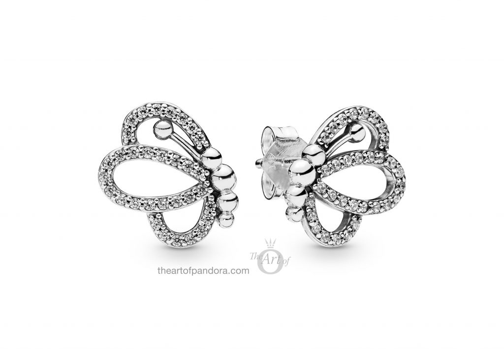 PANDORA Butterfly Outlines Earrings (297912CZ) Spring 2019
