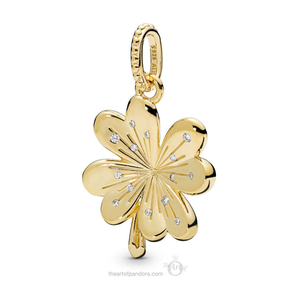 PANDORA Shine Lucky Four Leaf Clover Pendant (367935CZ) Spring 2019