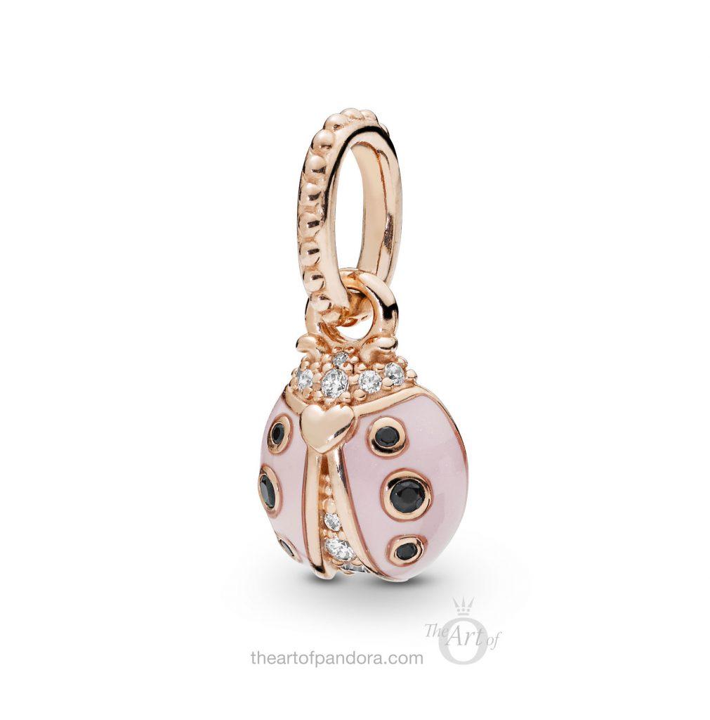 PANDORA Rose Lucky Pink Ladybird Pendant (387909EN160) Spring 2019