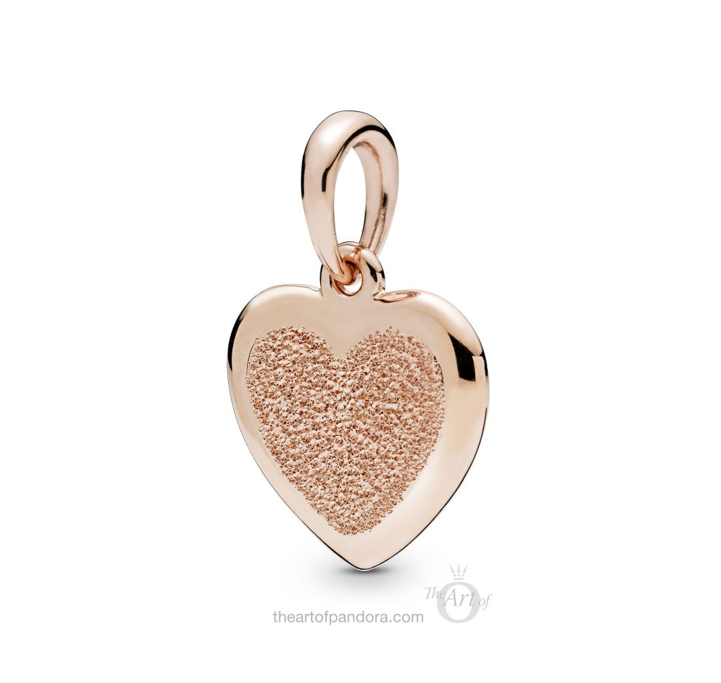 PANDORA Rose Matte Brilliance Heart Pendant (387926) Spring 2019