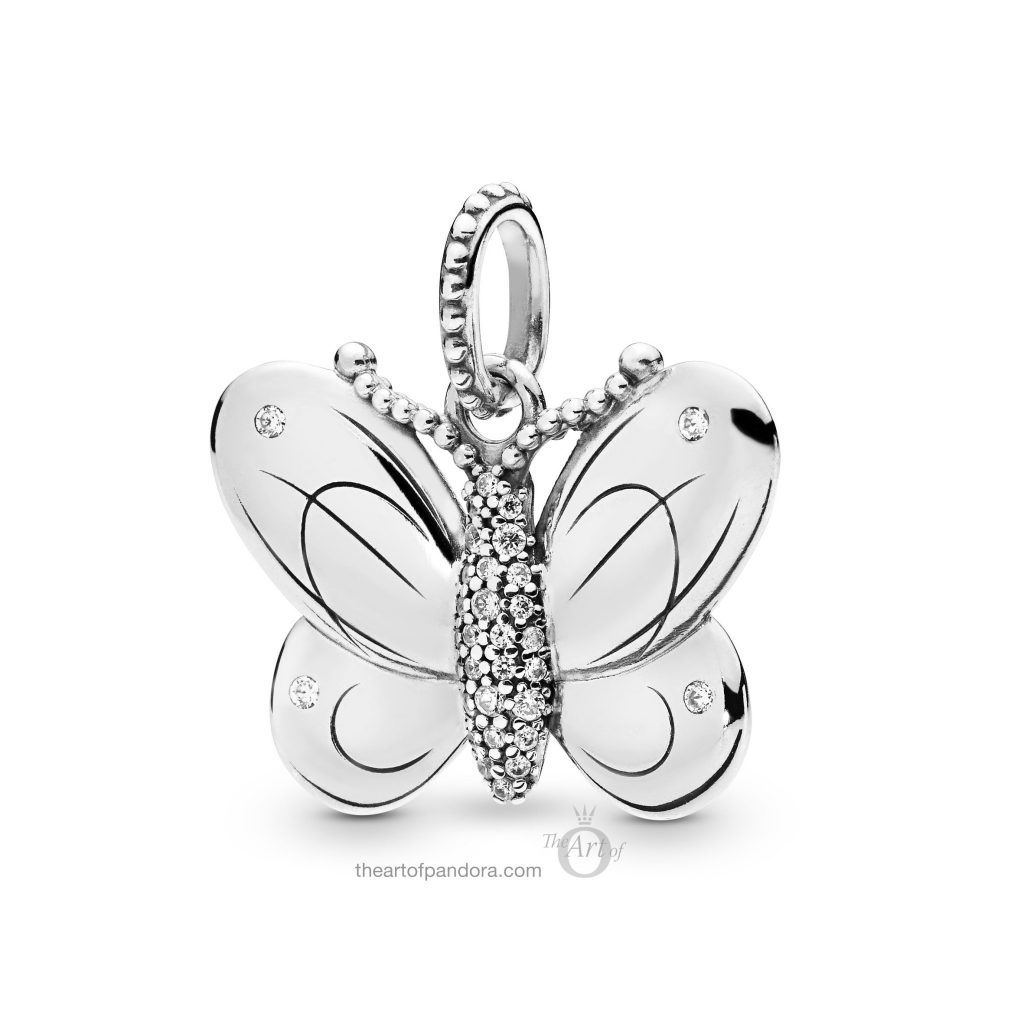 PANDORA Decorative Butterfly Pendant (397933CZ) Spring 2019