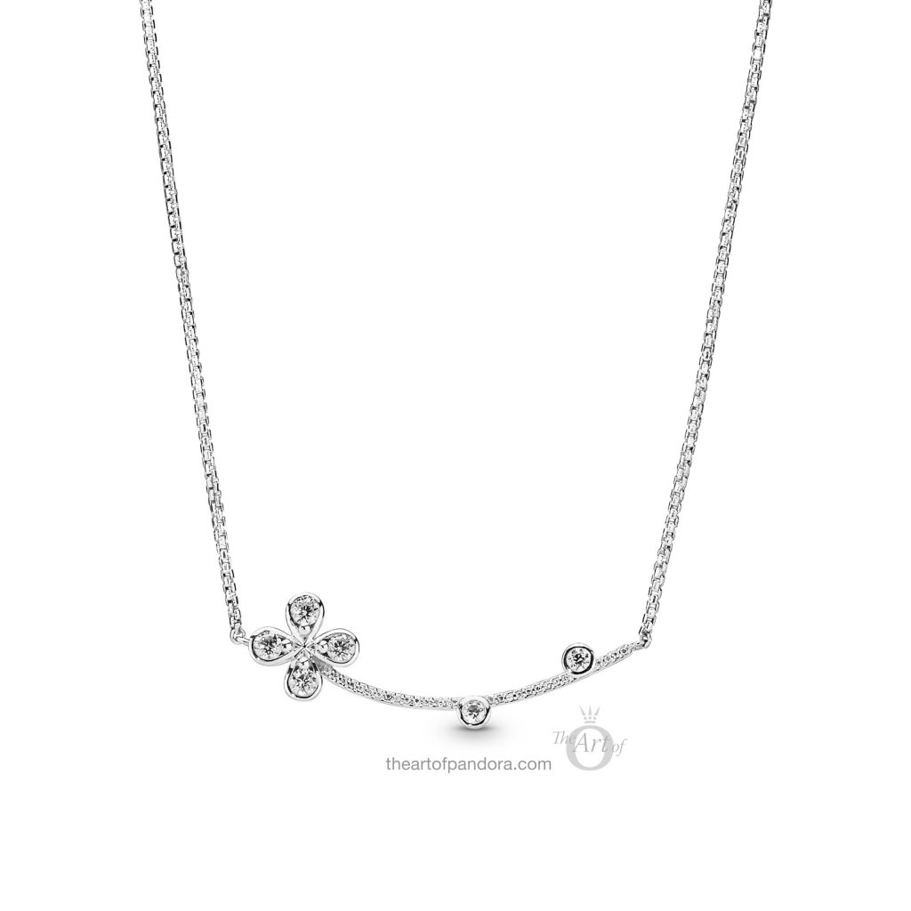 PANDORA Four Petal Flower Necklace (397956CZ) Spring 2019