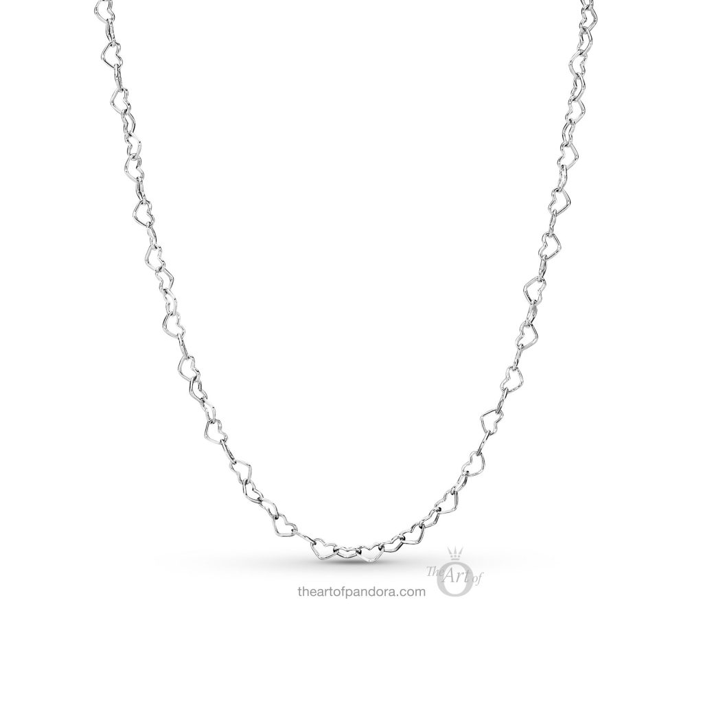 PANDORA Joined Hearts Necklace (397961) Spring 2019