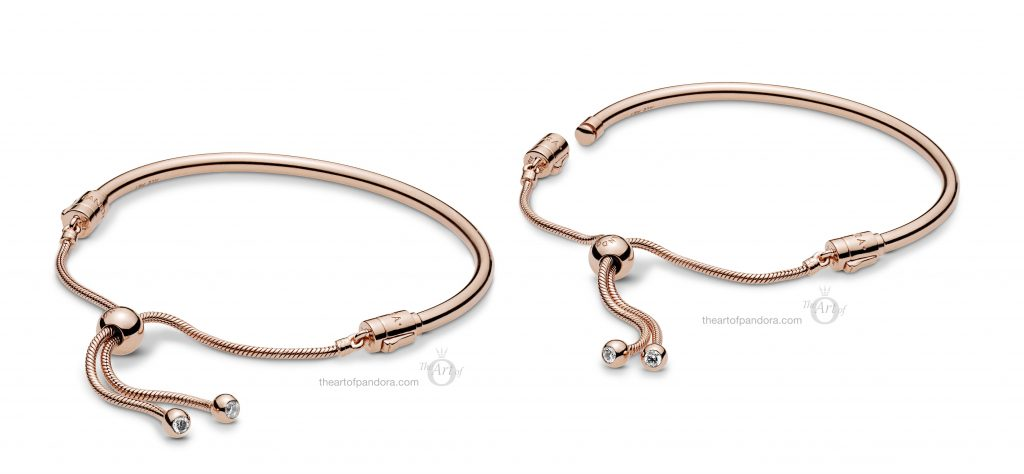 587953CZ PANDORA Rose Sliding Bangle Bracelet Spring 2019