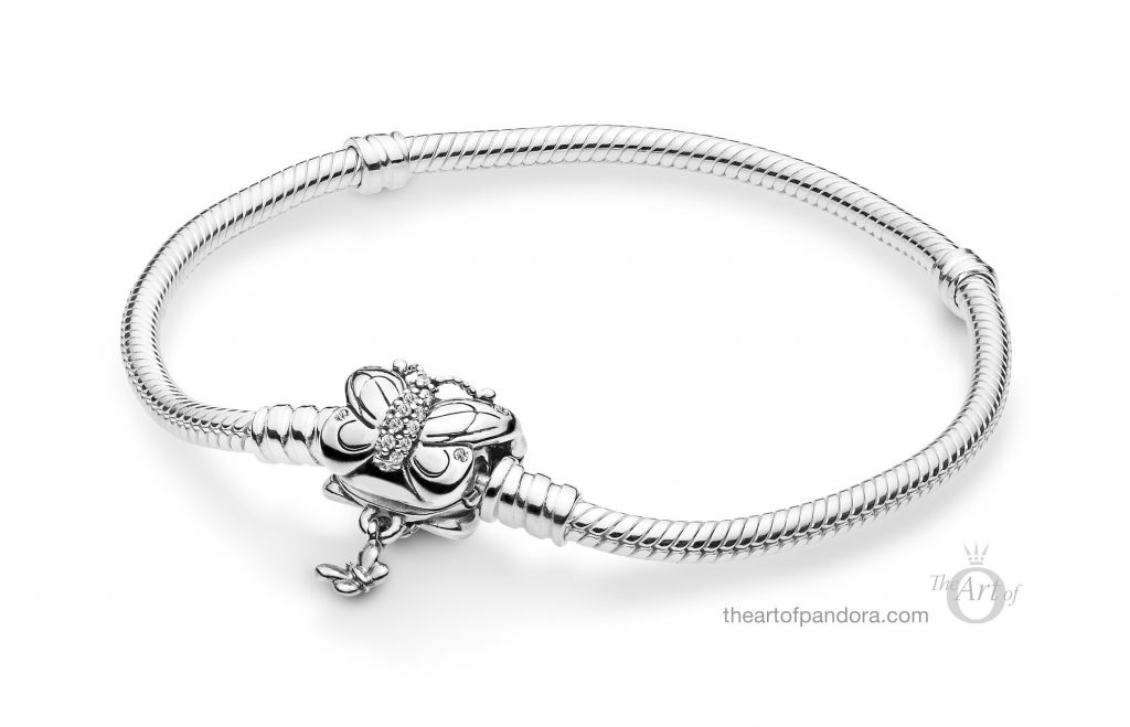 597929CZ PANDORA Moments Bracelet Decorative Butterfly Clasp Spring 2019