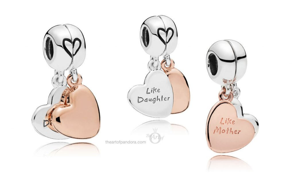 PANDORA MOTHER & DAUGHTER LOVE PENDANT CHARM (787783EN16)