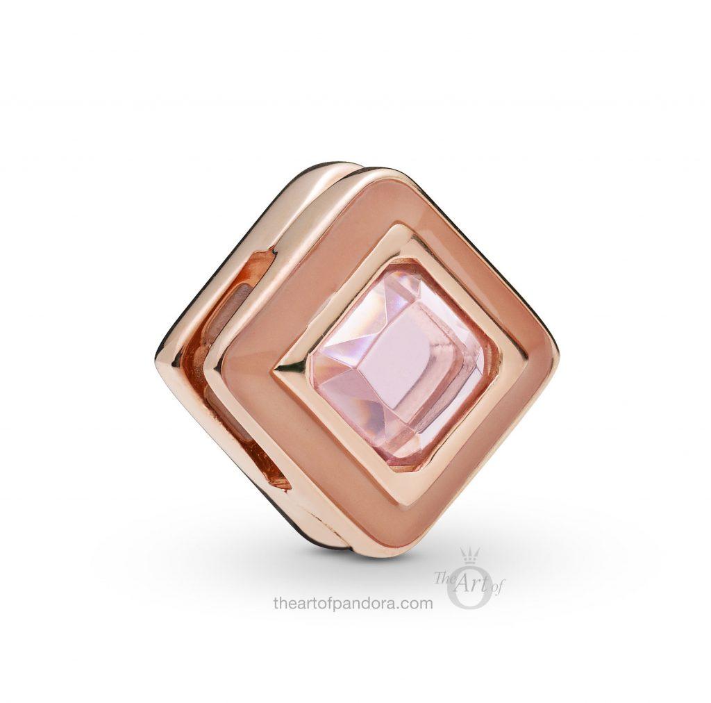 787888NPO PANDORA Rose Reflexions Square Clip Spring 2019