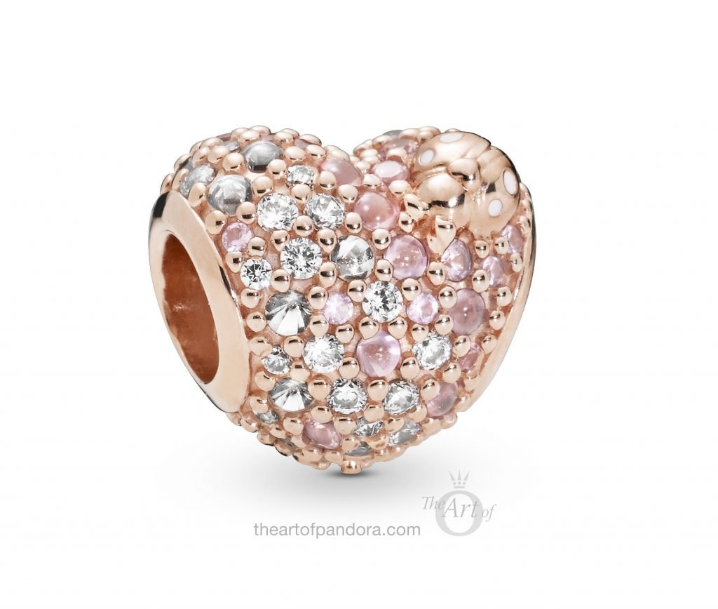 787894NPOMX PANDORA Rose Heart and Ladybird charm Spring 2019