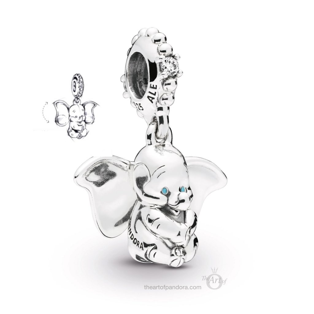 797849CZ PANDORA Disney Dumbo Dangle Charm Spring 2019