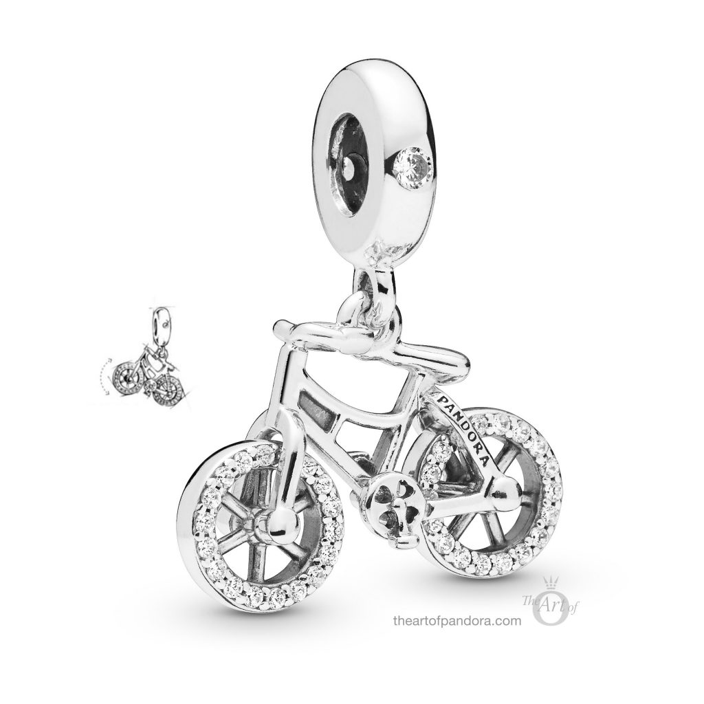 PANDORA Brilliant Bicycle Charm (797858CZ) Spring 2019