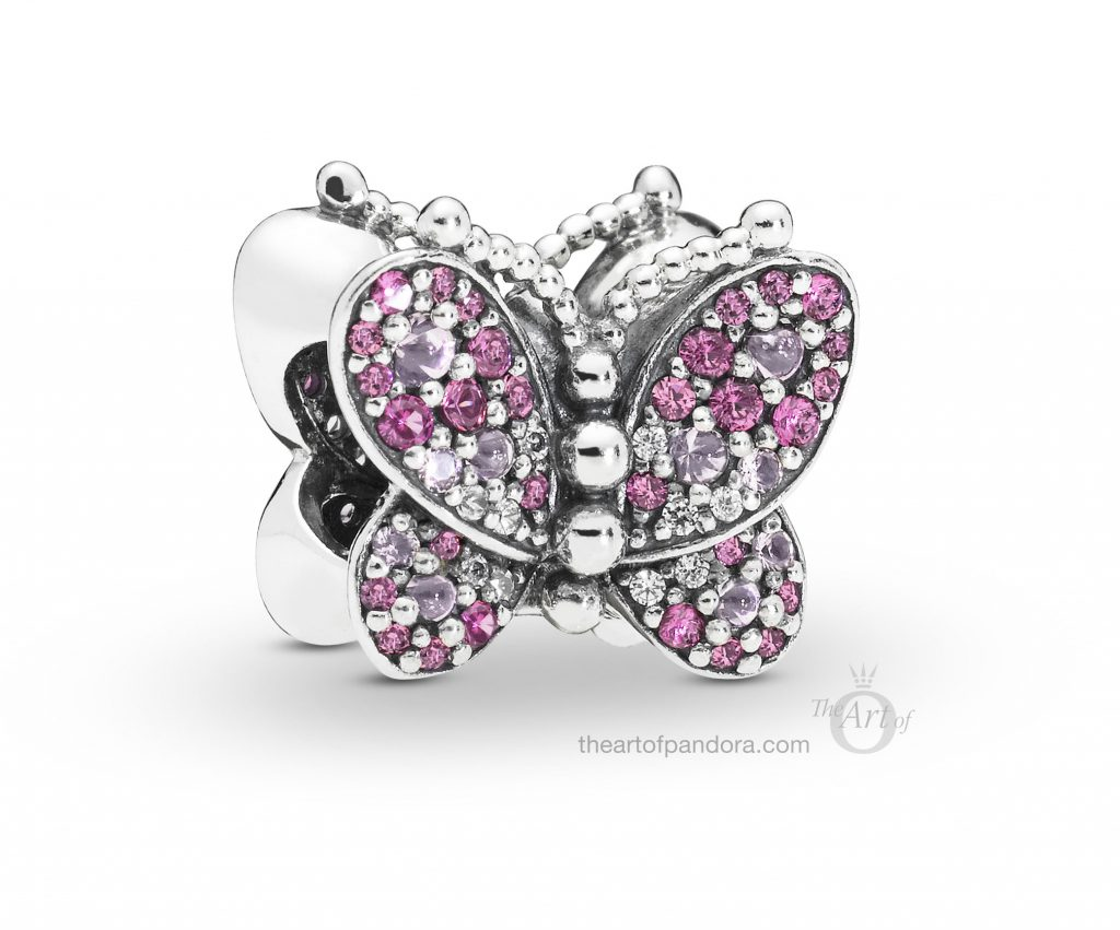 PANDORA Dazzling Pink Butterfly Charm (797882NCCMX) Spring 2019