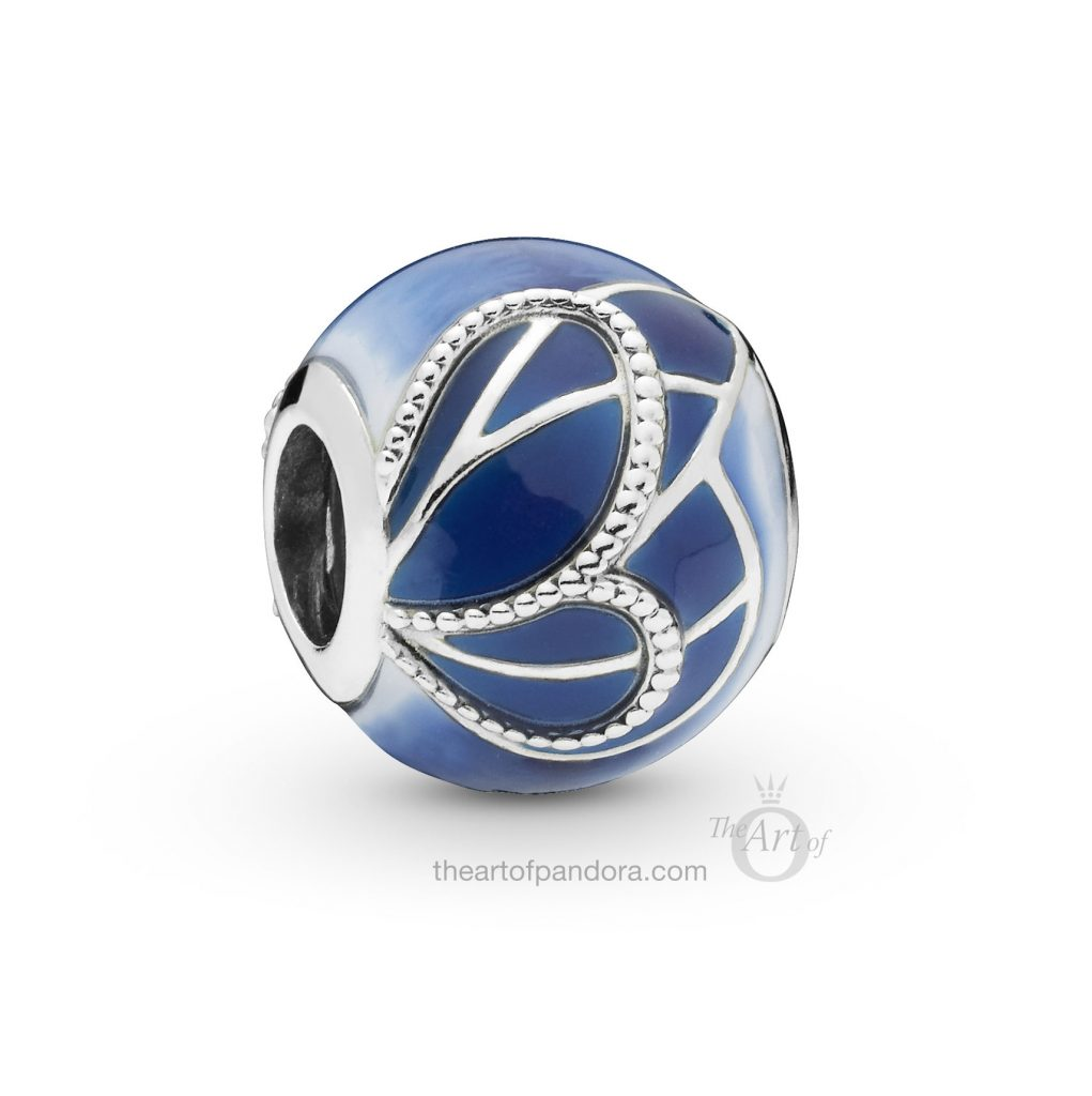 PANDORA Blue Butterfly Wing Charm (797886ENMX) Spring 2019