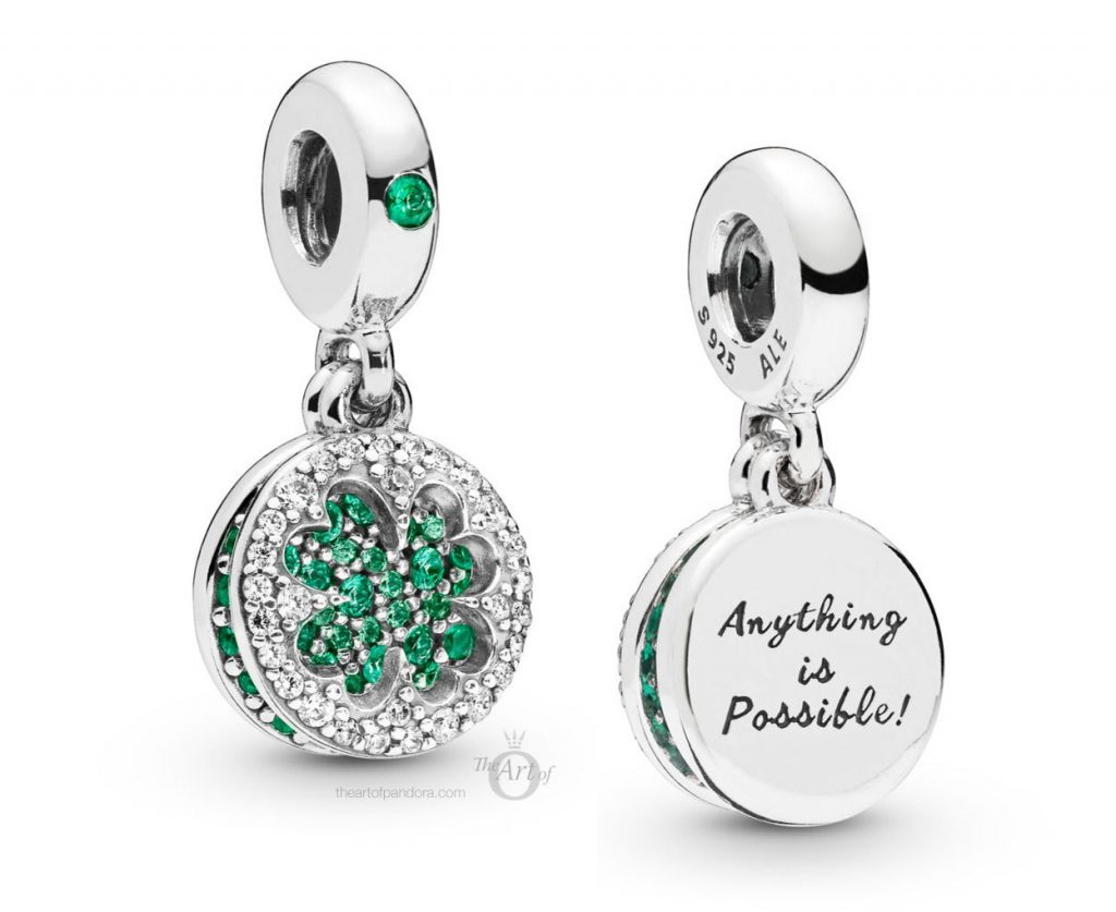 PANDORA Dazzling Clover Dangle (797906NRGMX) Spring 2019