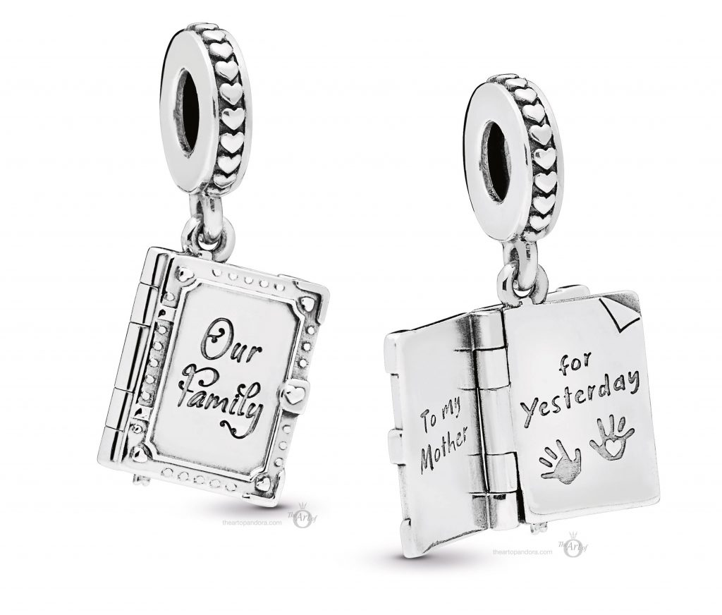 PANDORA-798105-Family-Book-Charm pandora mothers day 2019 collection