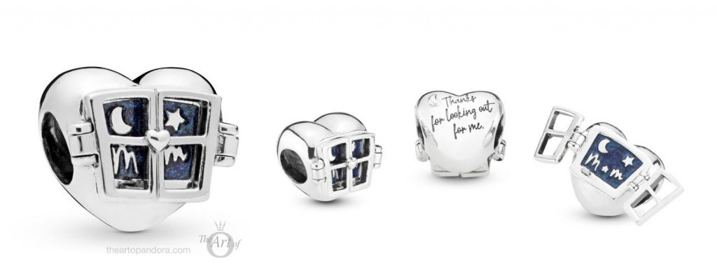 PANDORA WINDOW HEART CHARM (798006EN63) Mothers day 2019 collection