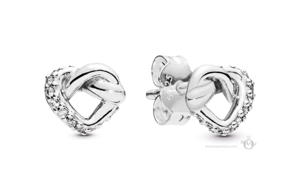 PANDORA 298019CZ Knotted Hearts Stud Earrings pandora mothers day 2019