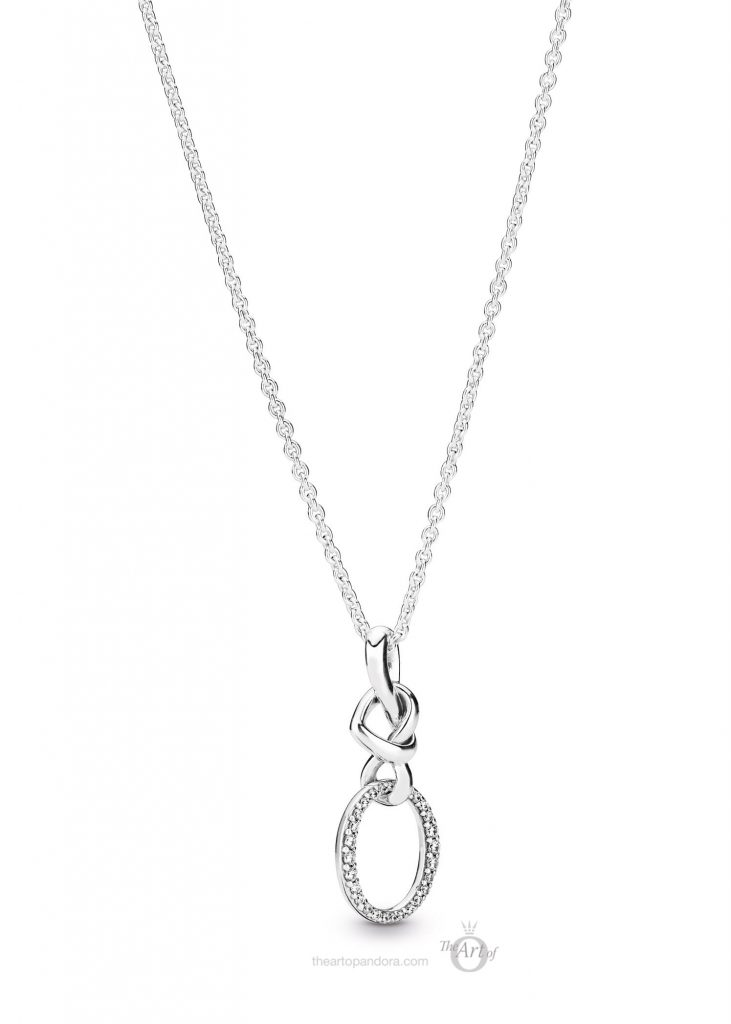 PANDORA Knotted Hearts Necklace & Pendant (398078CZ) mothers day 2019