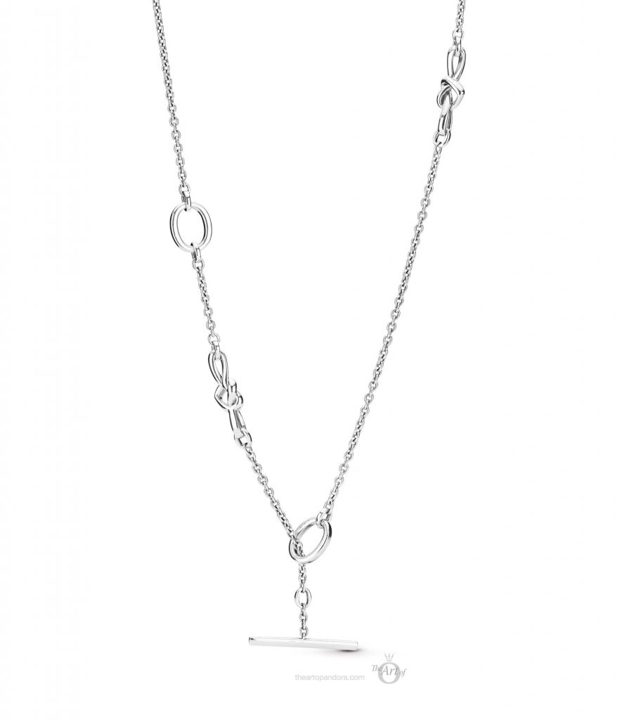 PANDORA 398080 Knotted Hearts T-Bar Necklace mothers day 2019